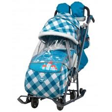 Ника Детям 7-4 санки-коляска Капри в клетку