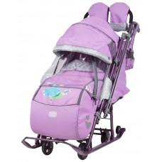 Ника Детям 7-4 санки-коляска Лиловый