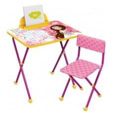 НИКА Набор мебели МАЛЕНЬКАЯ ПРИНЦЕССА (стол+мягкий стул) КП2/17 h580