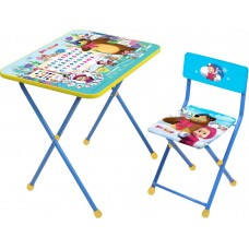 НИКА Набор мебели Азбука 2 МАША И МЕДВЕДЬ (стол+мягк. стул) КП2/2 h580