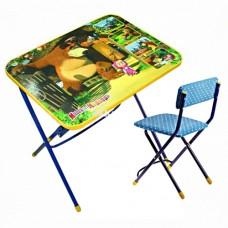 НИКА Набор мебели МАША И МЕДВЕДЬ (стол+пластиковый стул) КПУ1/6 h580
