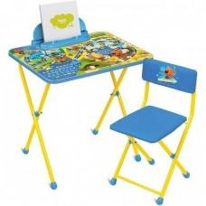 НИКА Набор мебели МИ-МИ-МИШКИ (стол-парта+мяг.стул+пенал) ММ2/1 h580