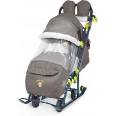Ника Детям 7-3 санки-коляска Джинс коричневый