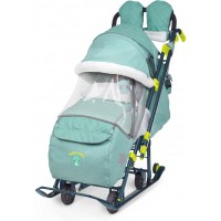 Ника Детям 7-3 санки-коляска Джинс зеленый