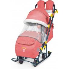 Ника Детям 7-3 санки-коляска Джинс красный