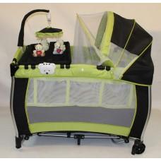 Stiony Манеж-кровать В6102-1 зелено-черный