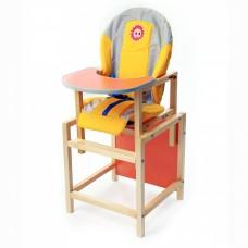ВИЛТ Стул-стол для кормления СОЛНЫШКО Желтый